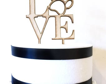 Love Philly Paw Cake Topper, love statue, wood cake topper, acrylic cake topper, valentine's day, philadelphia