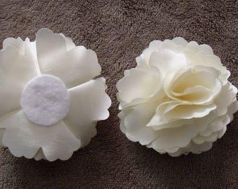 Satin ivory jewelry flower scrapbooking