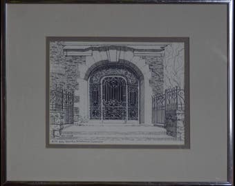 Door to Culture - Clark Chateau Butte, MT - Ink Sketch by Kathy Driscoll