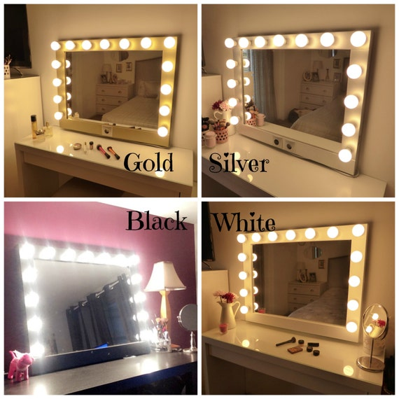 Awesome Hollywood Eitelkeit Spiegel Groe Make Up Spiegel Mit Licht Wand  Hngenfrei Stehend Perfekt With Make Up Spiegel Ikea
