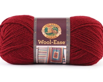Yarn - Lion Brand Wool Ease - Cranberry