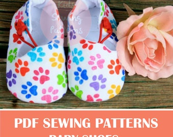 pdf sewing patterns for children/  boys girls  patterns pdf/ newborn shoes baby accessory / baby dress SHOES/ infant accesory clothes/ 0-12M