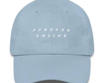 Forever Online Classic Dad Cap Aesthetic Hat Internet Meme