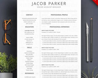 resume template word 3 page professional cv cover letter creative teacher resume two column - Two Column Resume