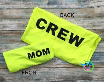 Construction Crew Dad, Construction Crew Mom, Coordinating Construction Family Shirts, Digger, Dump truck, Matching Construction, Crew shirt