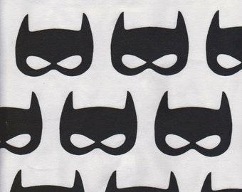 Batman Cotton Lycra Knit Fabric - Jersey Knit - 9.50 per yard - Batman Fabric - Sold By The Yard - Pink - Grey