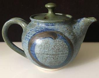 Blue Studio Pottery Teapot