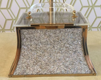 Rare Shaped Vintage Majestic Confetti Lucite Handbag