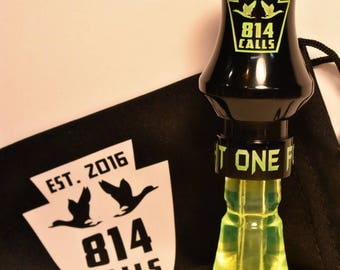 Matte Black / Neon Green Acrylic