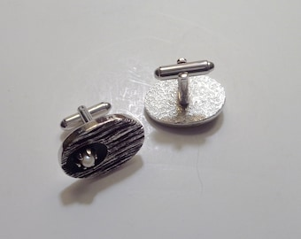 Cuff Links, Vintage 1950s Cuff Links, Groom Accessory