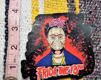 "4"" die cut Frida The 13th  Sticker"