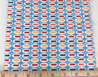 Blue Ovals, Peas & Carrots, Pezzy Prints, American Jane, Moda, Sandy Klop, 14 Inches