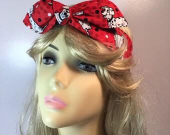 Disney 101 Dalmatians PinUp Style Headband Headscarf