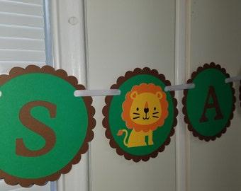 Safari Its a boy banner, Safari its a boy, safari baby decorations, safari party, safari birthday, safari baby shower, safari decorations