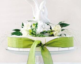 White Porcelain Doves Wedding Cake Topper