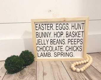 Easter Subway Art Custom Wood Sign // Easter // Easter Decor // Easter Sign