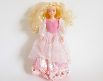 Berry Princess Strawberry Shortcake Vintage Doll with Pink Dress, Pockets for Berrykins