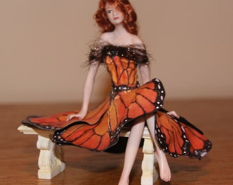 Fairy Doll in Butterfly Gown: Free Shipping