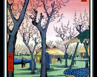 Japanese Peach Orchard Refrigerator Magnet -free US shipping