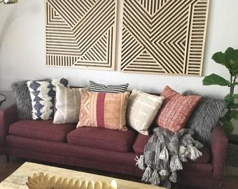 Wood Wall Art, Geometric Wood Art, Geometric Wall Art, Reclaimed Wood Art, Modern Wood Art, Wood Wall Decor
