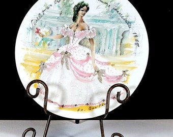 Scarlet COLLECTIBLE PLATE LIMOGES French Plate La Femmes 1865 Fashions of Century Wall Art Paris Decor Vintage Southern Belle Gift for Her
