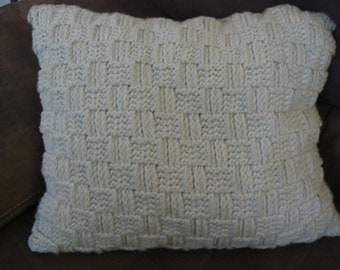 Basket weave Textured Crochet Couch Pillow