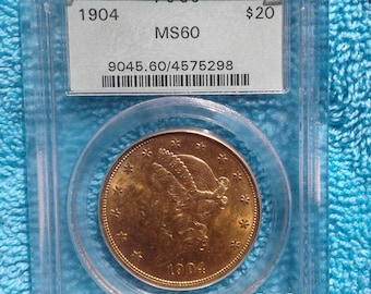 1904 PCGS MS-60 20 Dollar Gold Coin