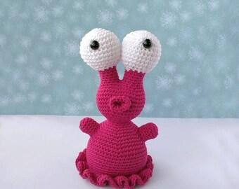 Snowman crochet crochet doll alien Zinck