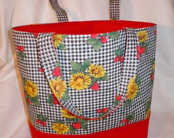 Market bag, Market tote bag, grocery tote bag, reusable, large,, grocery bag, diaper bag, shopping bag, beach bag, cotton fabric