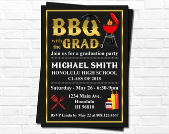 Cookout invitation etsy graduation bbq invitation graduation party invitation barbeque cookout invitation personalized invitation printable filmwisefo Images
