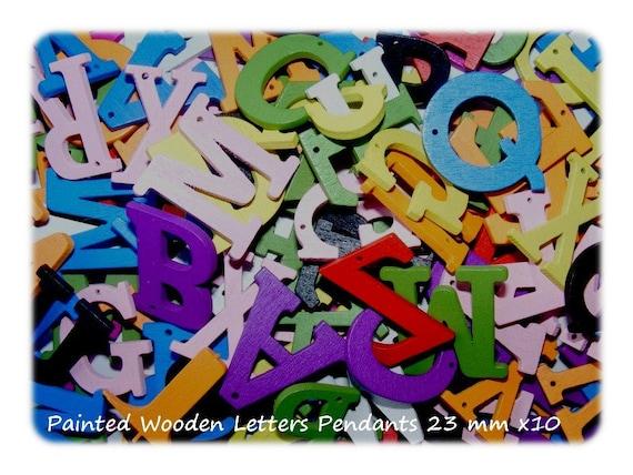 10 Lettres en bois