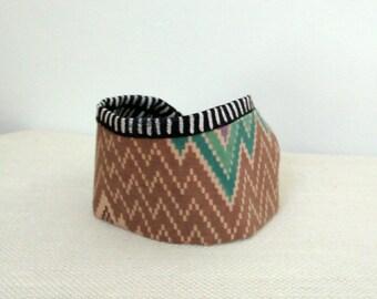 Reversible Fabric Cuff Bracelet