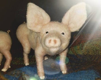 Needle Felting - Pig