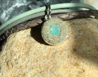 Gray Beach Sand Charm Bracelet