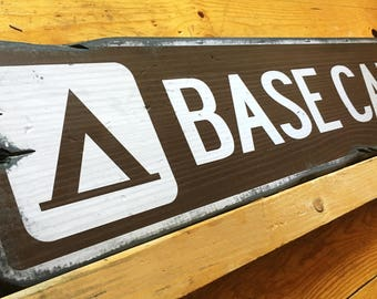 Base Camp, Handcrafted Rustic Wood Sign, Lodge & Cabin Signs, Mountain Decor for Home and Cabin, 1005