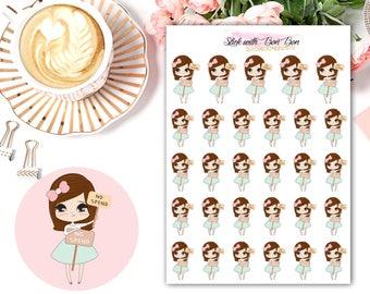 Amelie kawaii NO SPEND planner stickers || Erin Condren Life Planner, Kikki K, Plum Paper Planner