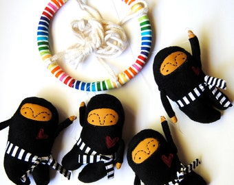 Baby Mobile ---  Ninja  ---  Made To Order  ----  Customize colors