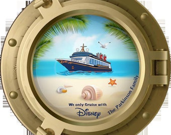 Disney Cruise Porthole Magnet magic fantasy dream wonder