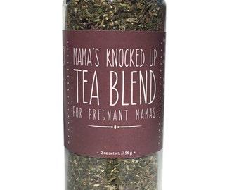 "Pregnancy Tea, Organic, Nourishing Herbs, Relaxing Herbs, Raspberry Leaf, Nettles, ""Knocked Up"""