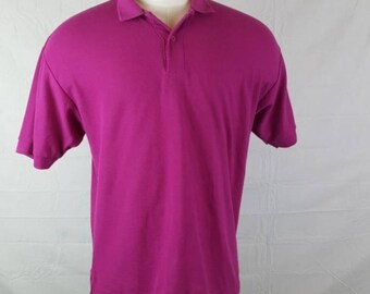 Levi's Vintage Hot Pink Polo Shirt Prep Look