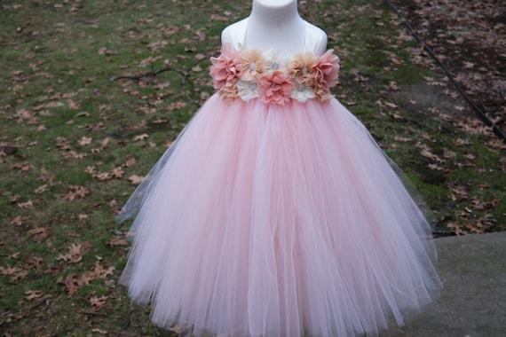 Girls blush pink dress light pink flower girl dress girls like this item mightylinksfo Choice Image