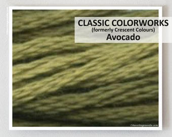 AVOCADO Classic Colorworks hand-dyed embroidery floss cross stitch thread at thecottageneedle.com