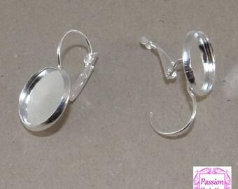 6 support sleeper earrings cabochon 14 mm ba057