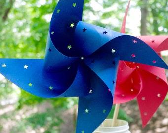 12 Star Spinning Pinwheels