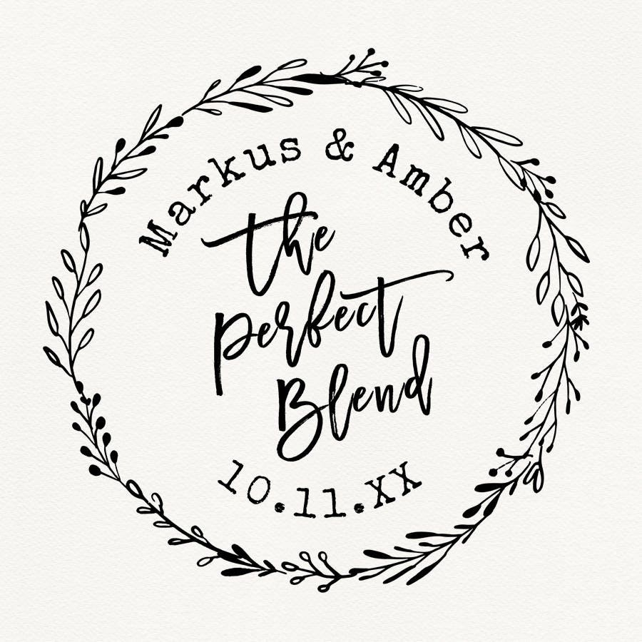 Perfect Blend Stamp, Coffee Sleeve Stamp, Wedding Stamps, Custom ...