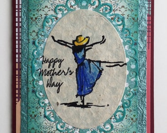 Happy Mothers Day Hand Crafted Very Feminine Greeting