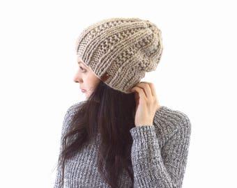 Chunky Alpaca Knit Slouchy Hat Beanie Toque | The Dakota