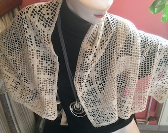 Crochet shawl Cape