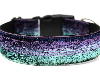 """Glitter Dog Collar 1.5"""" Ombre Dog Collar Mermaid Dog Collar"""