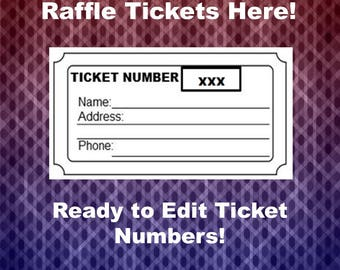 raffle ticket template with numbers
